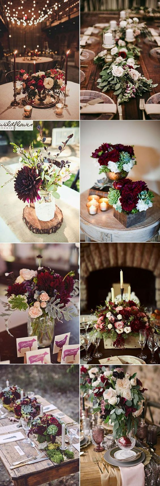 Wedding decor ideas 2018  beautiful burgundy wedding centerpieces ideas for any wedding themes