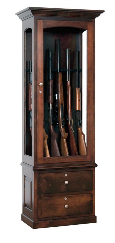 Amish Heirloom Gun Cabinet | Guns, Woodworking and Gun storage
