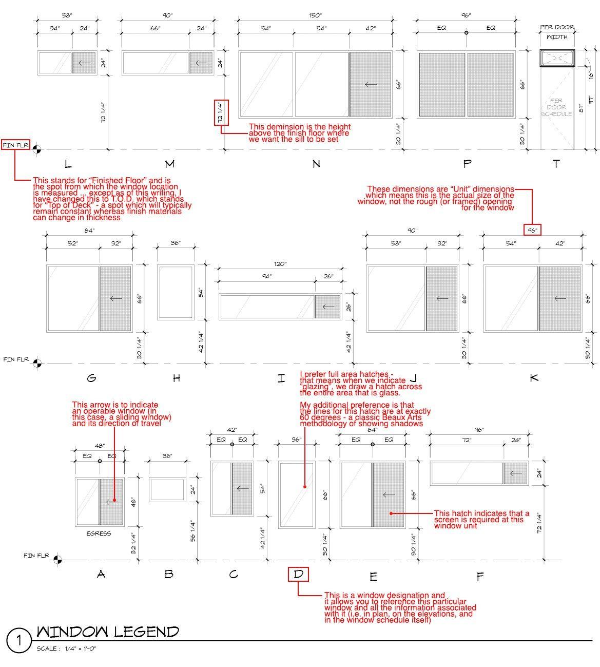 Architectural Graphics 101 Window Schedules Life Of An Architect Architecture Portfolio Design Architecture Symbols Architecture Presentation