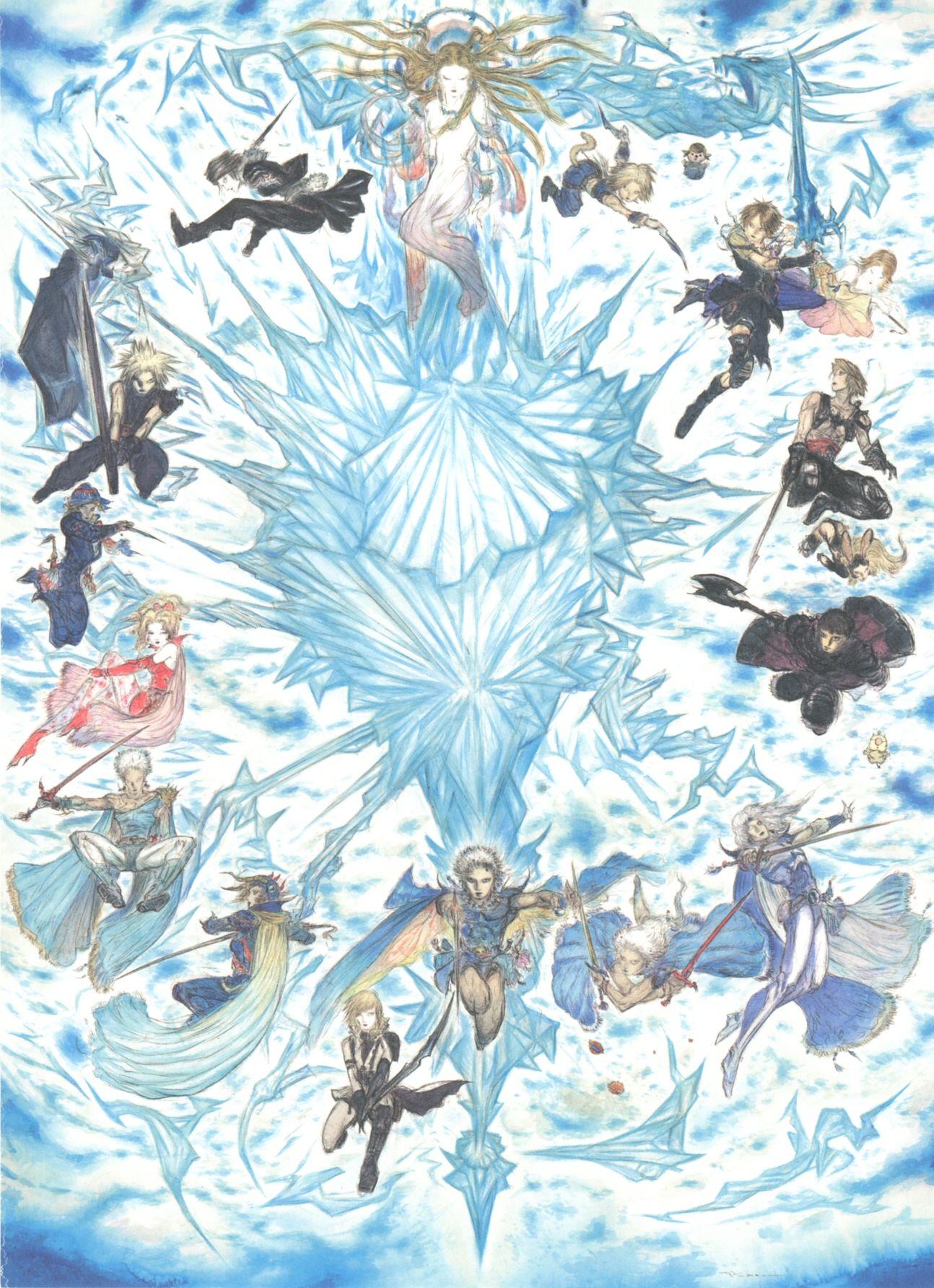 Yoshitaka Amano Final Fantasy Art Final Fantasy Artwork Fantasy Artwork