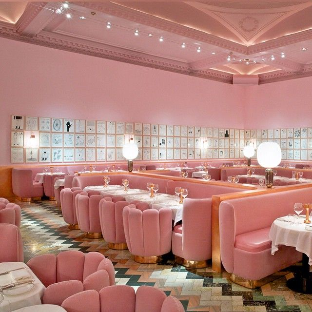 has conceived a striking soothing monochromatic interior at sketch the multi disciplinary hip restaurant cum art gallery and one of a gent of styl