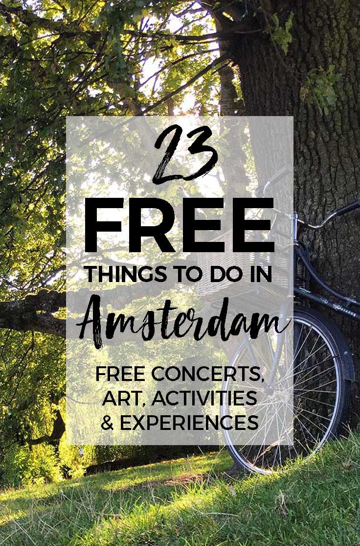 23 FREE things to do in Amsterdam #budget #budgettravel #amsterdam #netherlands