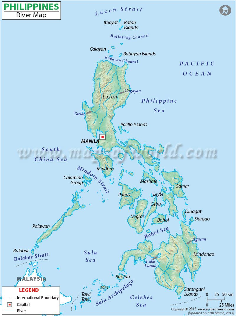 Philippines River Map ll Pinterest Philippines Rivers and Lakes