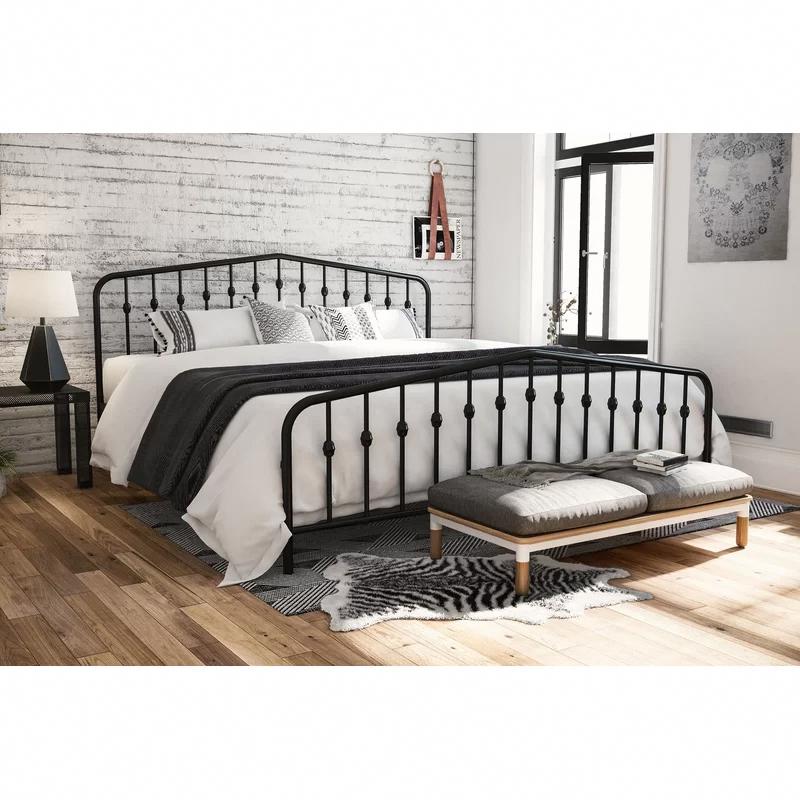 Bushwick Platform Bed In 2020 Bedroom Furniture Sets Bed Linen Design Steel Bed Frame