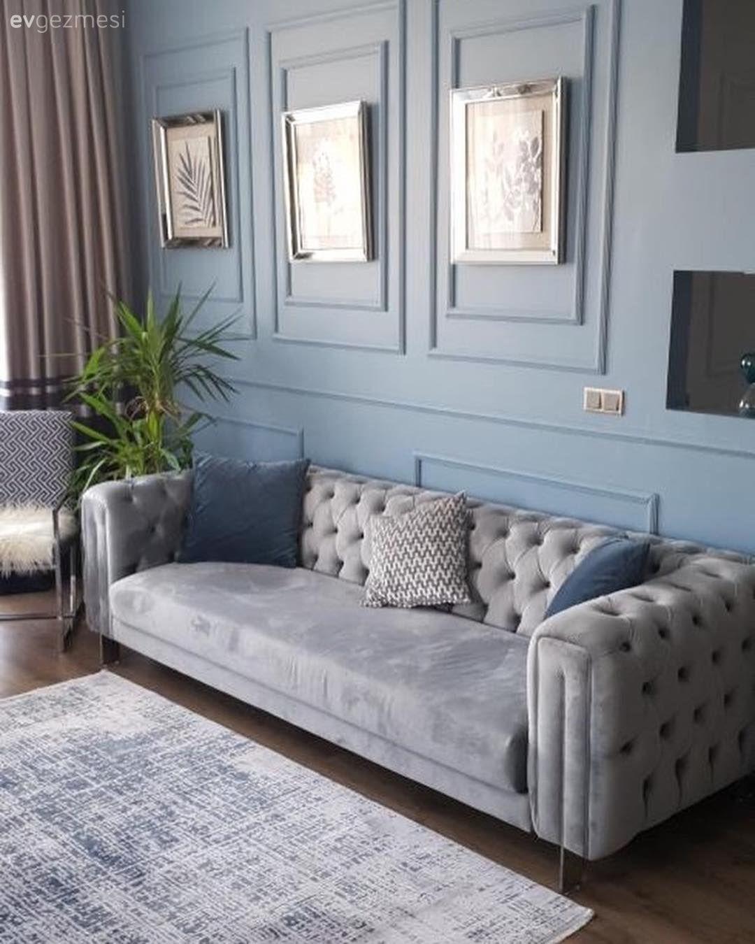 Bu Evin Serin Renkleri Sik Dekorasyona Taze Bir Nefes Katiyor Ev Gezmesi Oturma Odasi Takimlari Oturma Odasi Tasarimlari Oturma Odasi Fikirleri