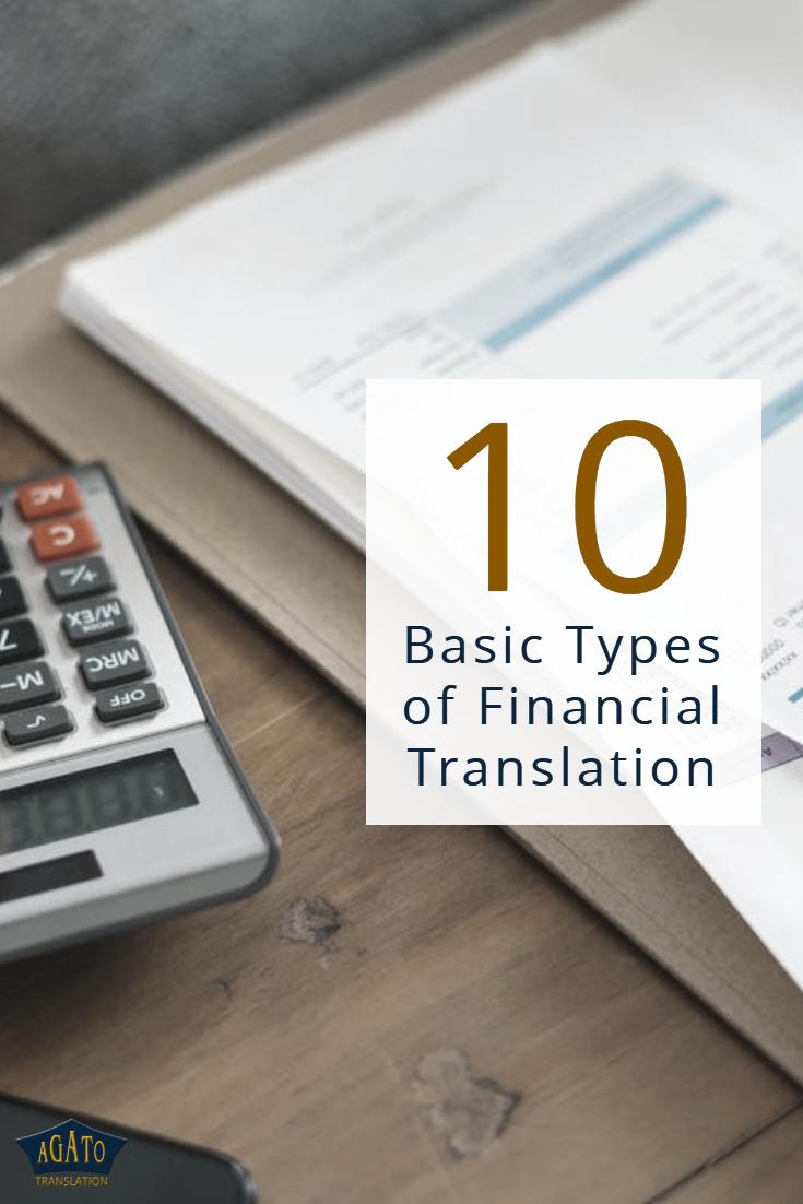 10 basic types of financial translation https