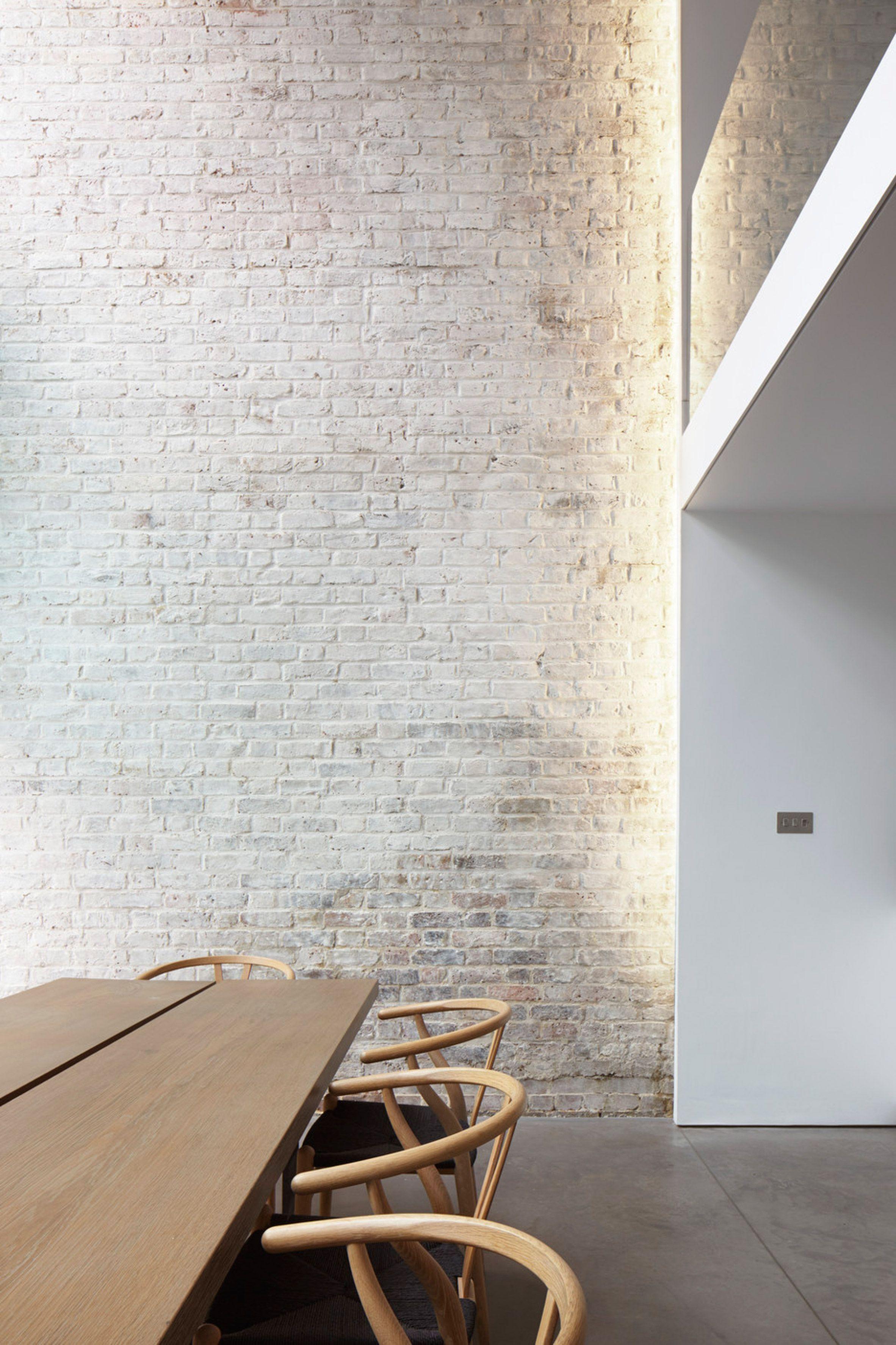 Simplicity Brick Interior White House Modern Design Architecture
