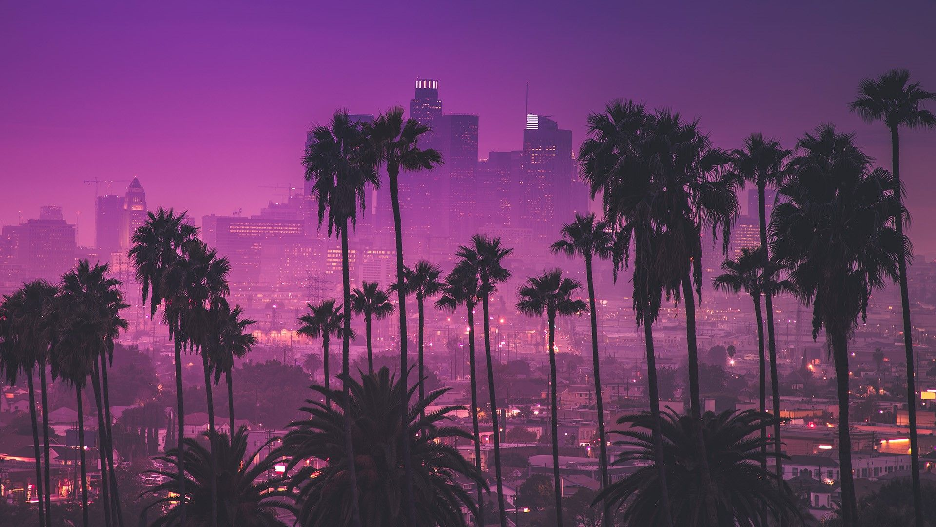 Los Angeles Sunset 1920x1080 In 2020 California Wallpaper Desktop Wallpaper Art Los Angeles Wallpaper