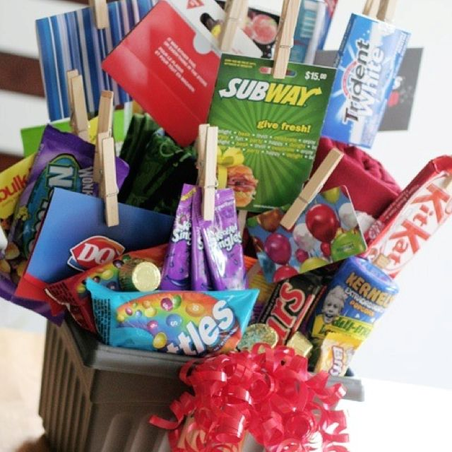 Cool gift basket idea for any age | fund raiser ideas | Pinterest | Basket ideas Gift and Gift card basket  sc 1 st  Pinterest & Cool gift basket idea for any age | fund raiser ideas | Pinterest ...