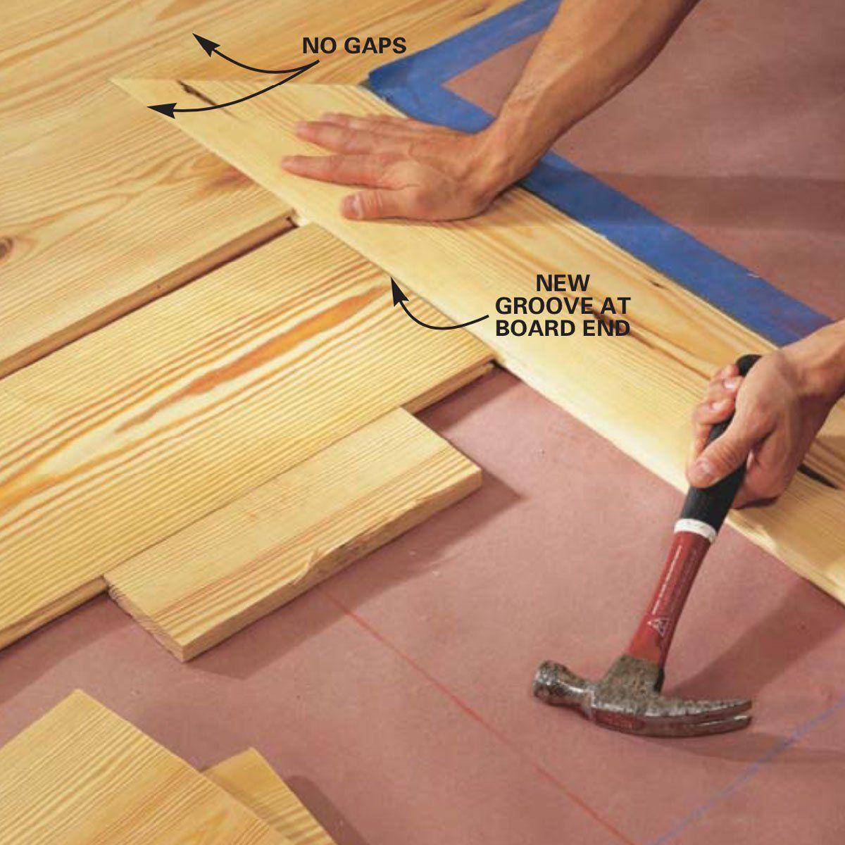 How to Install Pine Floors Pine floors, Diy wood floors