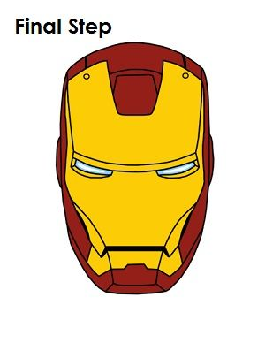 How To Draw Iron Man Final Step Day Care Pinterest Drawings