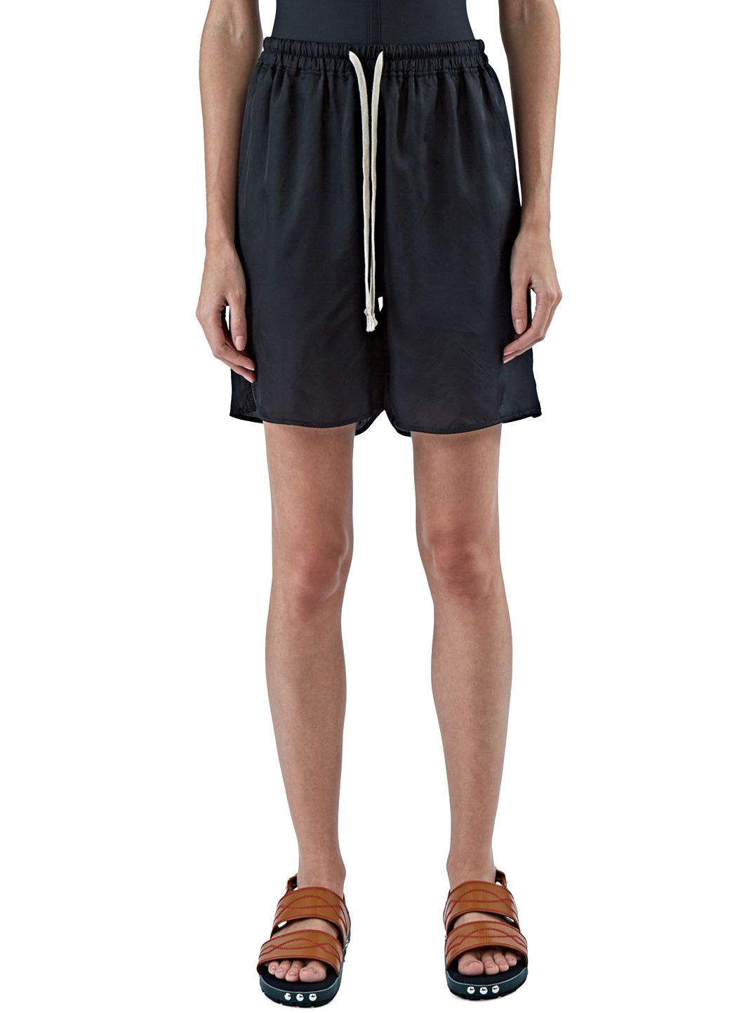 RICK OWENS Women S Satin Boxer Shorts In Black.  rickowens  cloth ... ab65697fc4