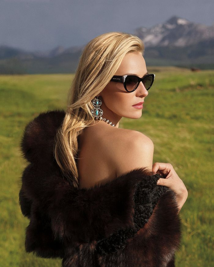 Tap into Ralph Lauren's cinematic heritage with classic eyewear that alludes to western motifs