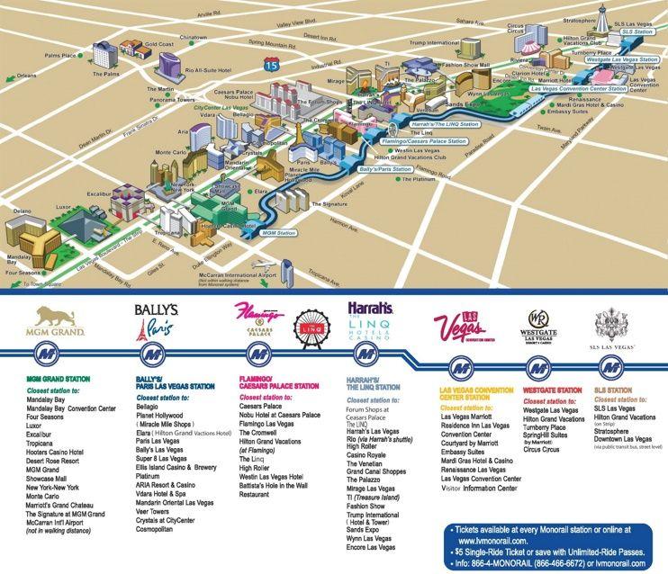 Las Vegas Strip Hotels and Casinos map Maps Pinterest Las