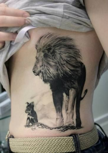 Lew I Szczeniak Tatuaż Tattoo Tatuaż Tatuaże Ze