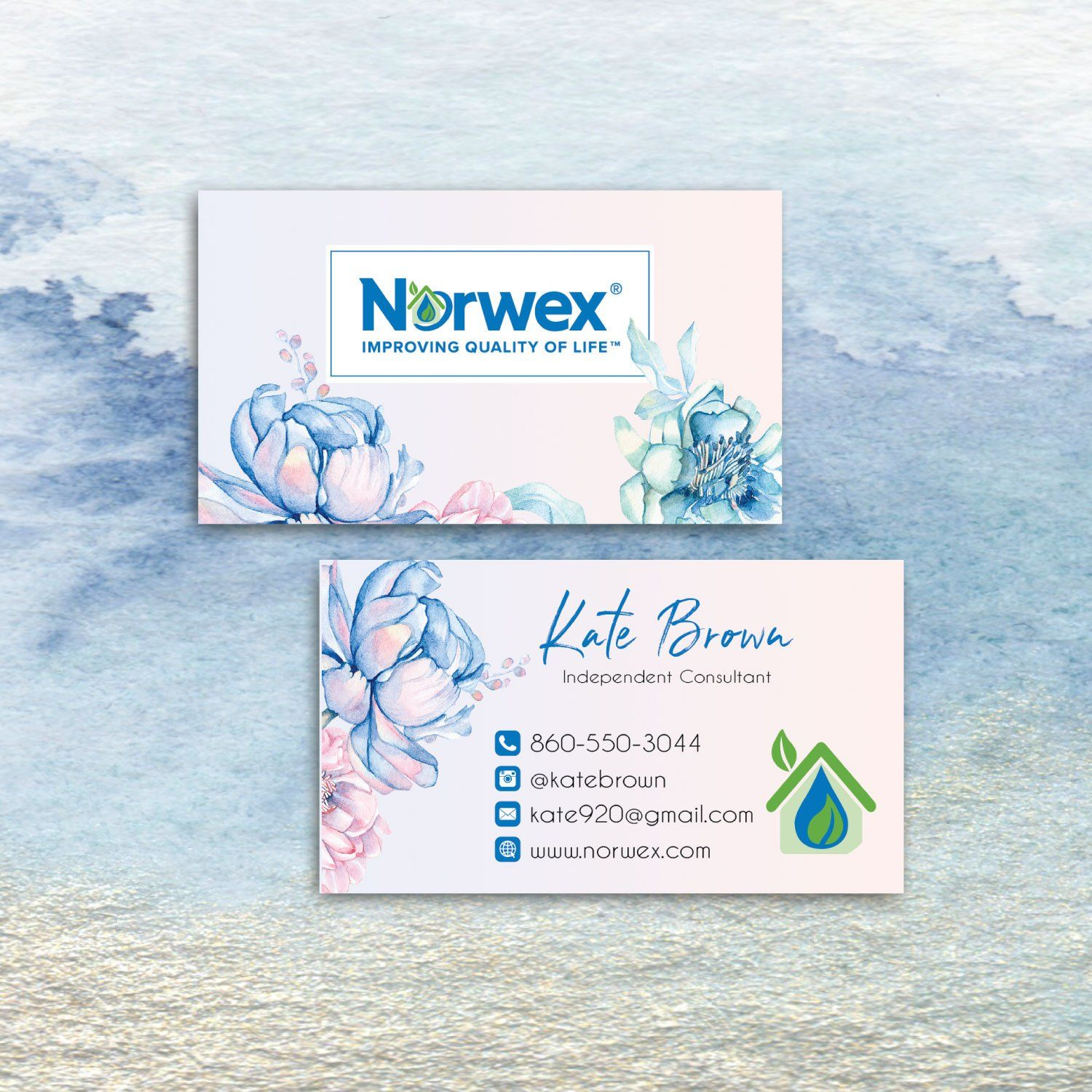 Norwex Business Cards Personalized Norwex Template Nw08 Cleaning Business Cards Arbonne Business Cards Norwex