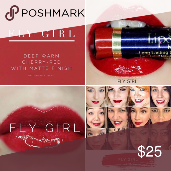 LipSense - Fly Girl Deep Warm Cherry-Red with Matte Finish LipSense is the  premier