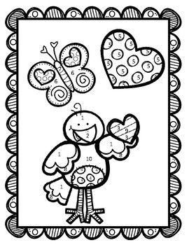 Two-Step Equations with Integers Valentine's Coloring
