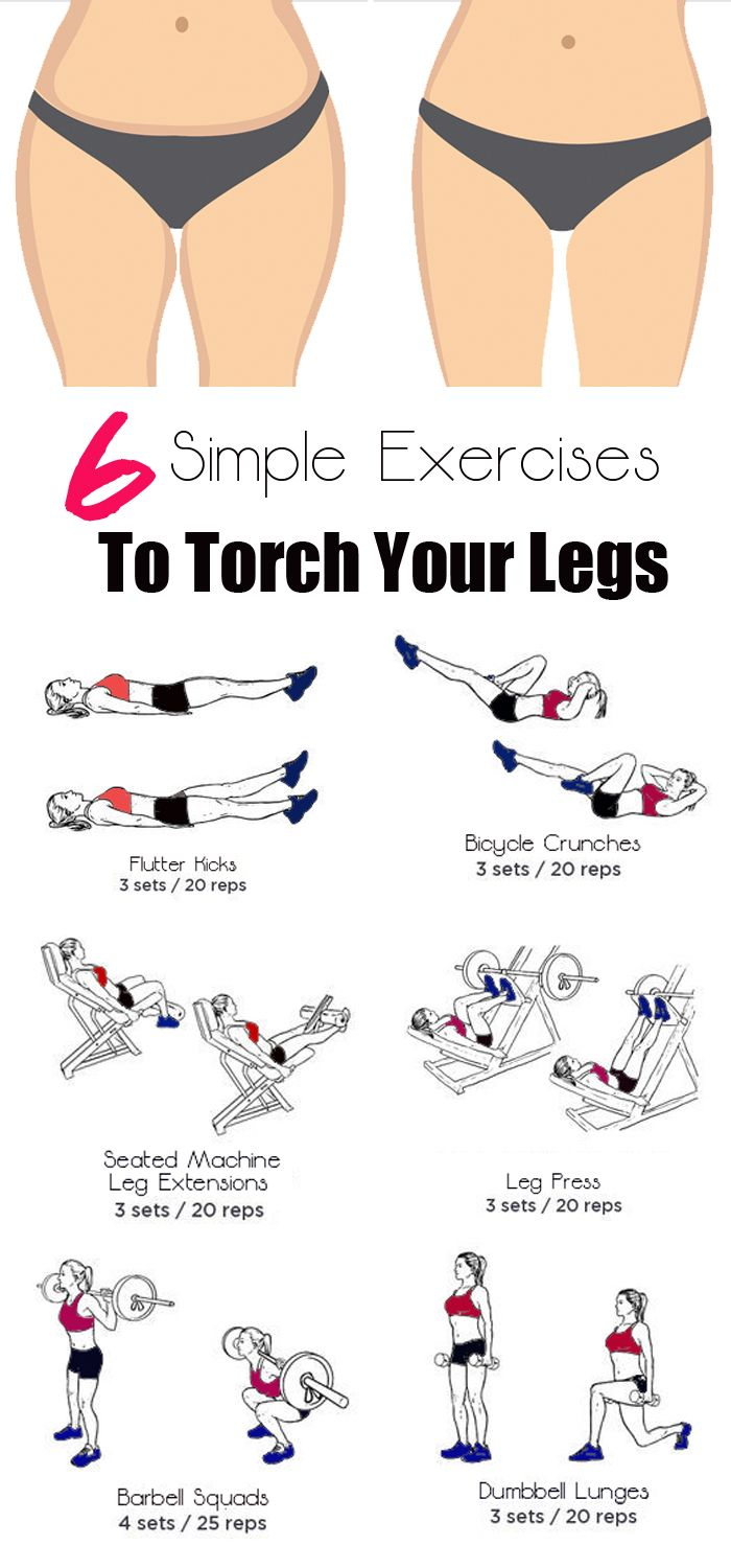 6 Simple Exercises To Torch And Tone Your Legs  Workout -8665