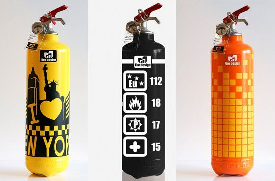 modern home decore fire extinguisher