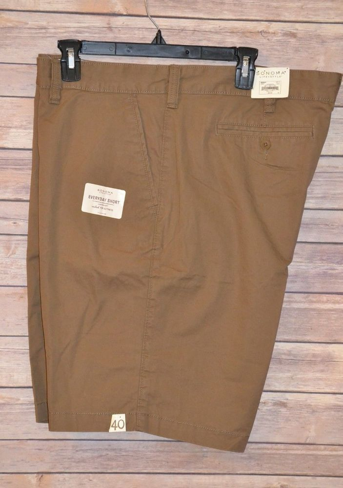 9d99ca5b1f MENS SONOMA LIGHTWEIGHT SOFT WASHED EVERYDAY GOLF SHORTS SIZE: 40 LIGHT  BROWN #Sonoma #CasualShorts #golfshorts