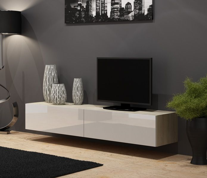 seattle 25 meuble tv chene meubles tv pinterest meuble tv modulable meuble tv led et. Black Bedroom Furniture Sets. Home Design Ideas