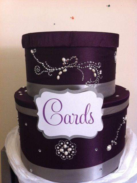my Purple and Silver card box! : wedding cardbox diy purple silver ...