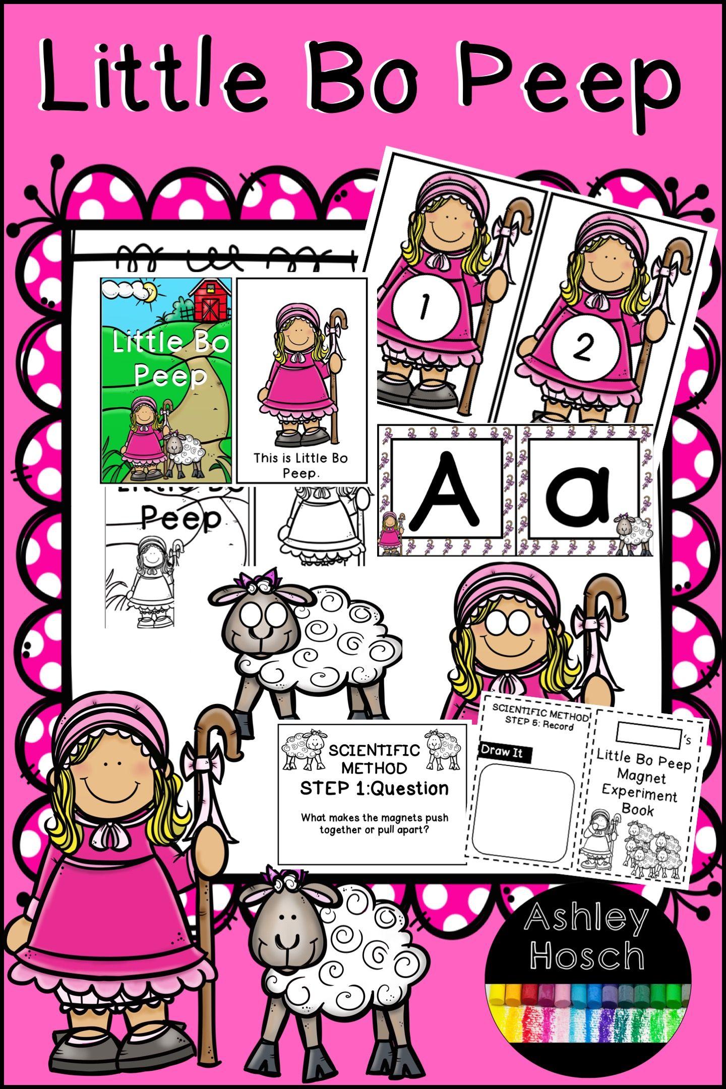 Little Bo Peep Nursery Rhyme Thematic Unit For Preschool