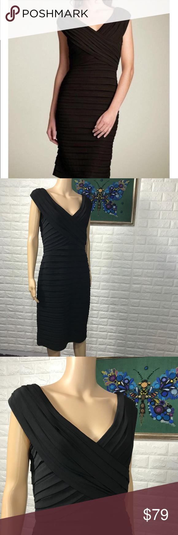 Tadashi Shoji Black Tiered Layered Sheath Dress Sheath Dress Dresses Tadashi Shoji Dresses [ 1740 x 580 Pixel ]