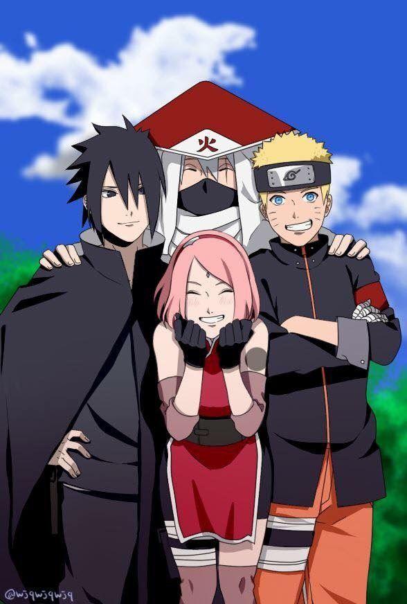 Kakashi Sasuke Naruto Sakura Anime Naruto sasuke