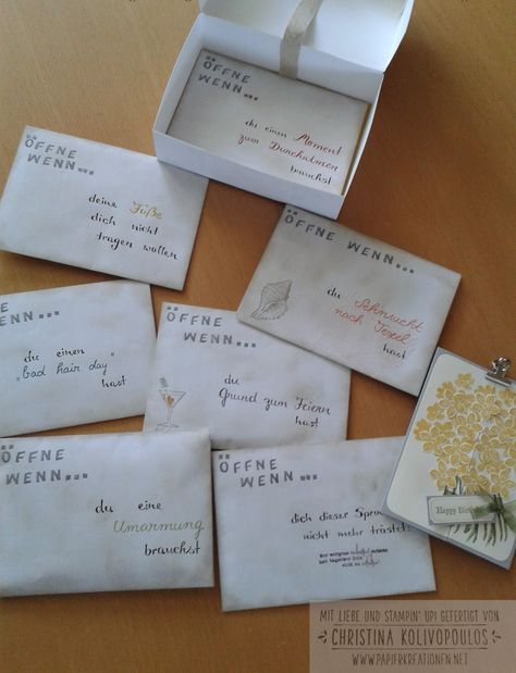 Stampin' Up! Stampin up, öffne wenn Briefe, Open When Letters, Geschenk, Geburtstag, persönliches Geschenk #persönlichegeschenke