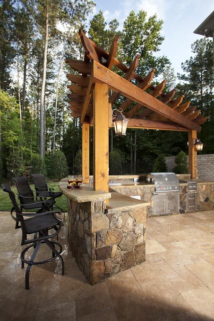 Grill And Bar Things I Love Pergola Pergola Garden