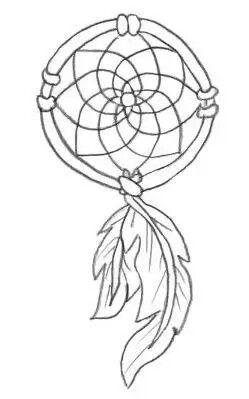 Simple Dreamcatcher Design Tattoos Dream Catcher Tattoo