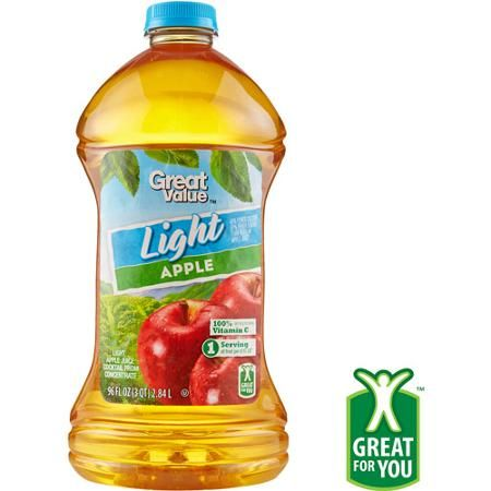 Great Value Light Apple Juice Cocktail, 96 fl oz Grocery List - fresh blueprint cleanse net worth