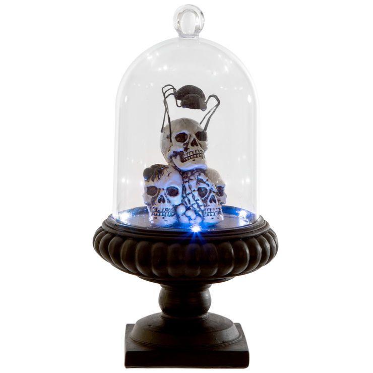 LED Skull Cloche w/Light 119-in Halloween Pinterest