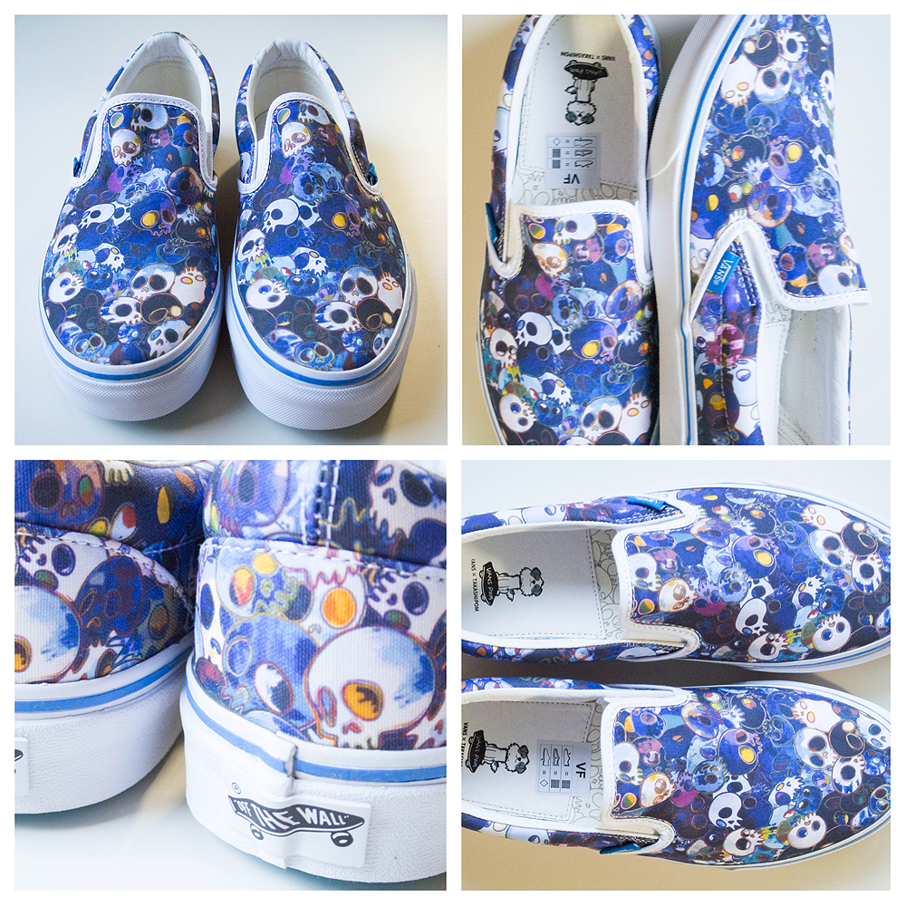 2c04aaeeda Slip On Skull Blue - VAULT by VANS x Takashi Murakami (USA Mens Women  9.5 11) - Japan Lover Me Store