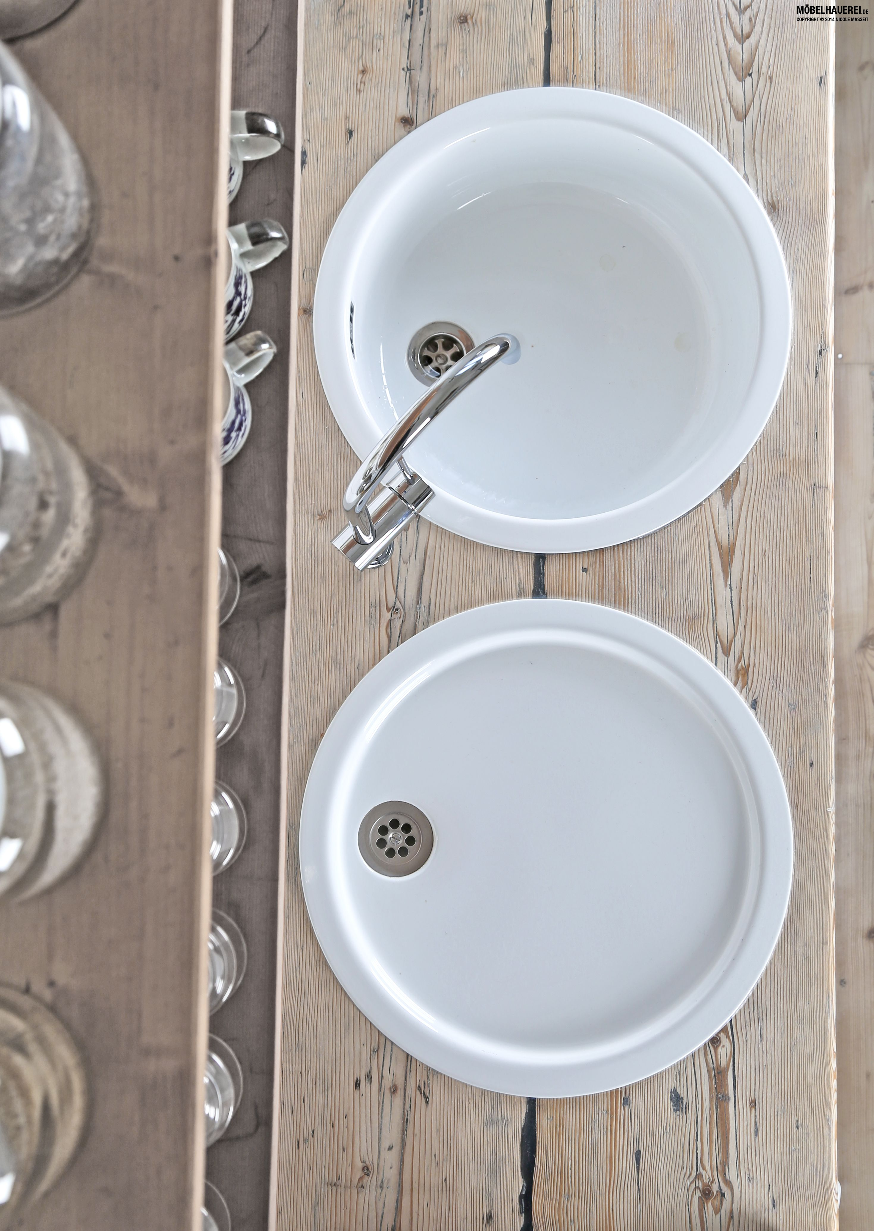 Küchenarbeitsplatte aus gebrauchten Gerüstbohlen, 45mm ... | {Küchenarbeitsplatte maße 22}
