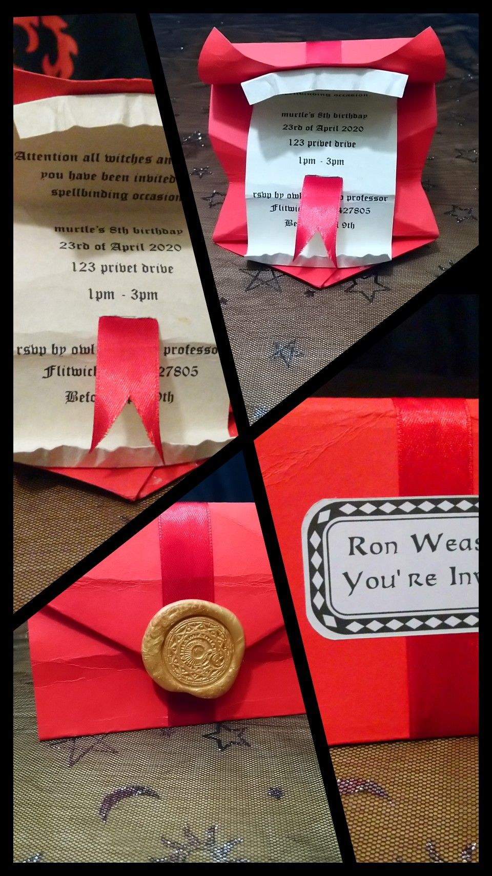 Personalised Howling letter, birthday invitation, save the