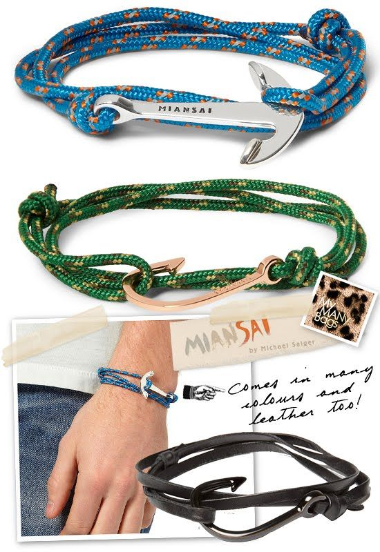 Spotted In Singapore Miansai S Utility Rope Anchor And Fish Hook Bracelet