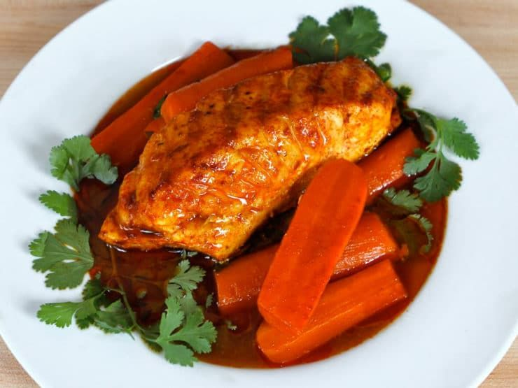Smoked Paprika Fish with Carrots - A tasty, heart healthy