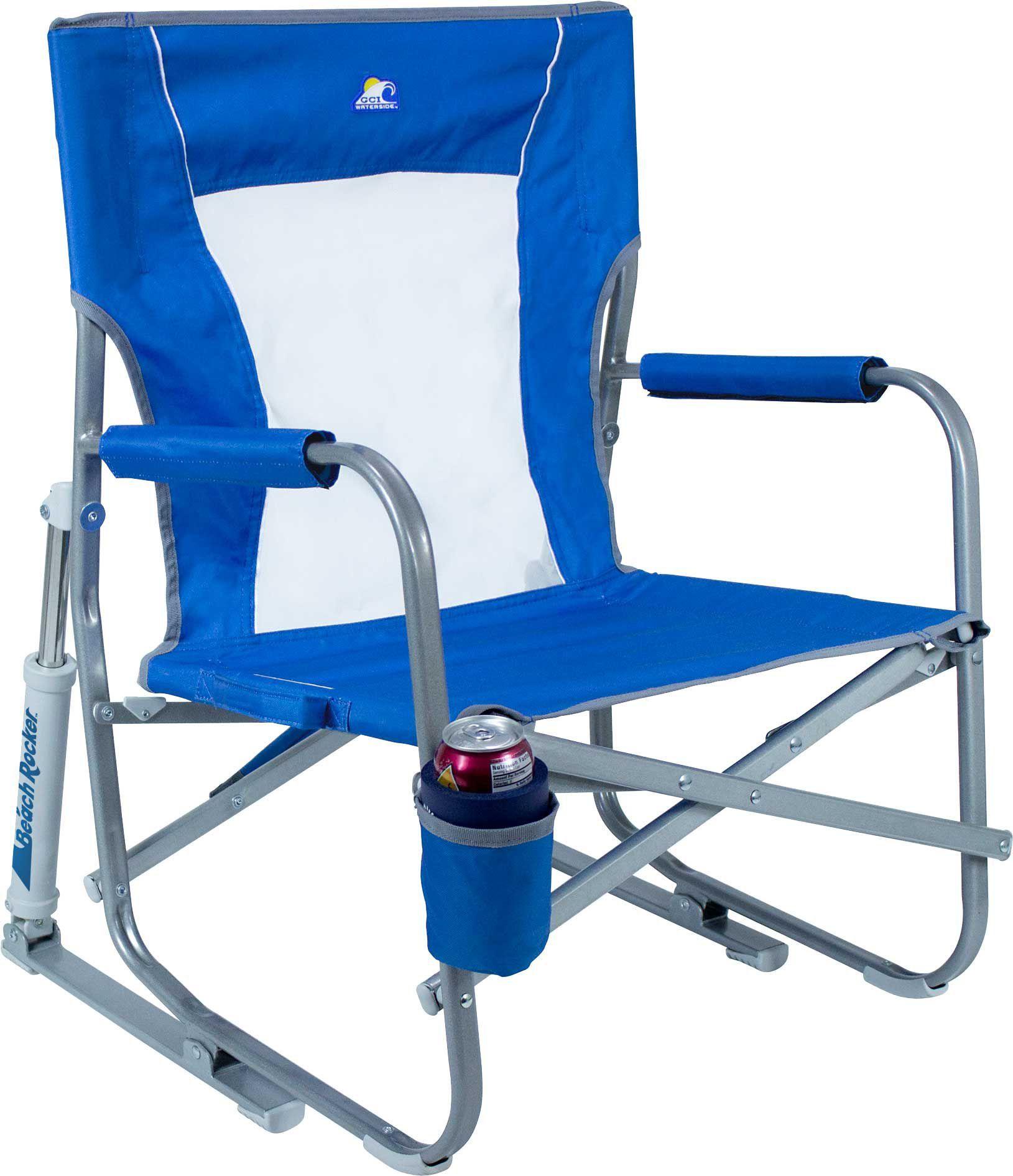 GCI Waterside Beach Rocker, Blue Portable rocking chair