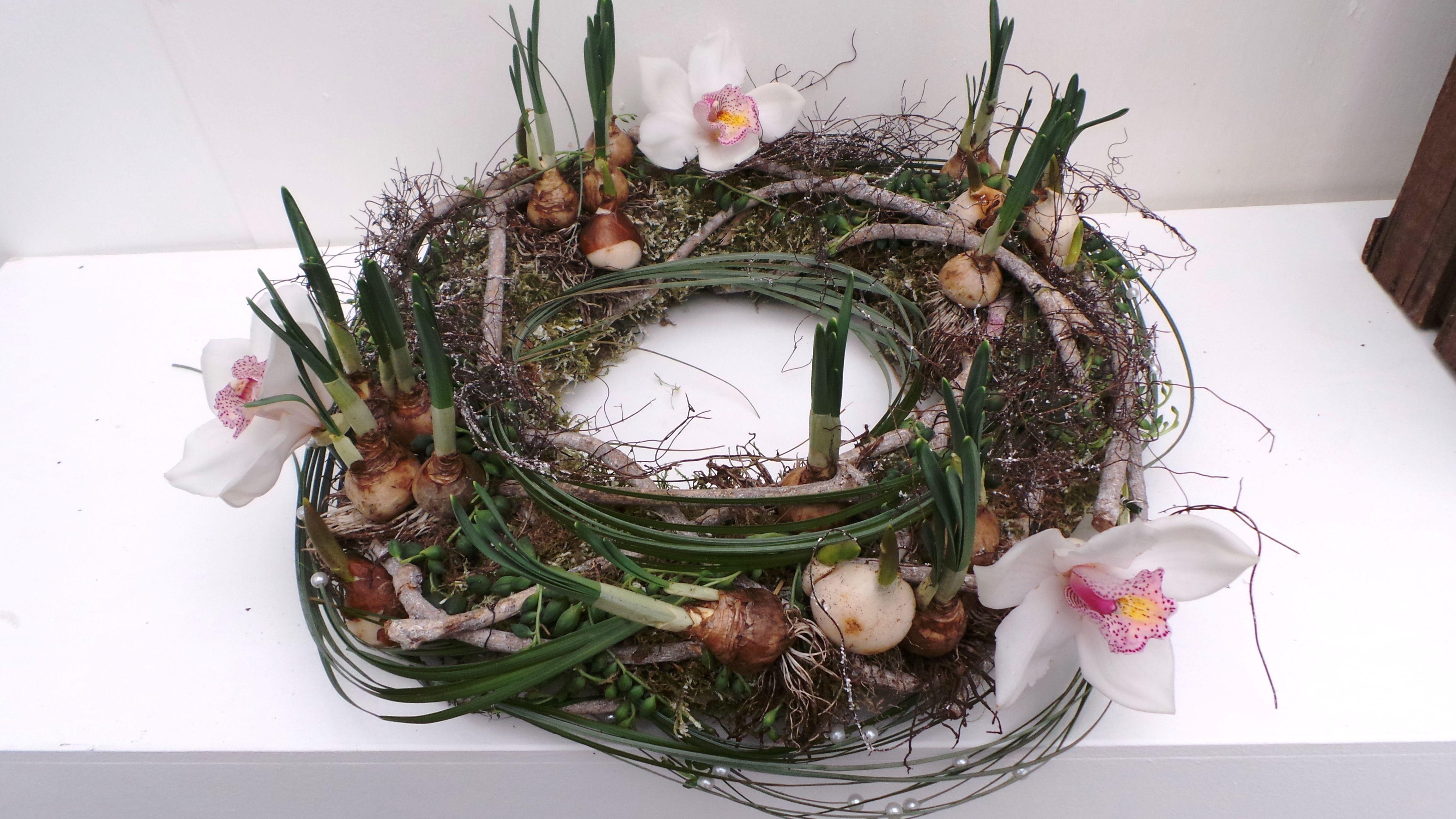 Voorjaarsarrangement workshopvoorbeeld 2015  Spring arrangement 2015 workshop example  Made by Greenhouse Noordwijkerhout