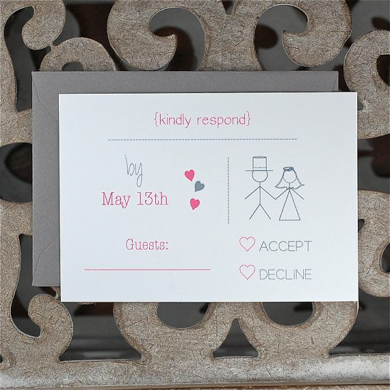 Casual Wedding Invitations Stick Figure By Deanpenn