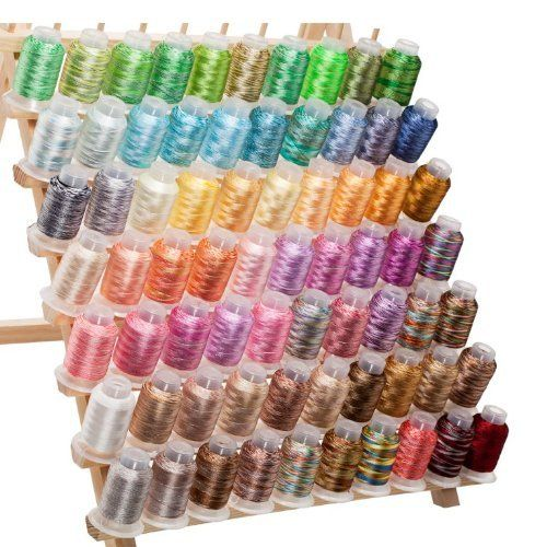 $49.99 70 Spools Variegated Embroidery Machine Thread by Kolors Embroidery,  SEWING MACHINES.If you would like to buy this item just click on amazon below the Pinterest Pin, this takes you right to the amazon page.  http://www.amazon.com/gp/product/B008NZ5ABI?ie=UTF8=213733=393177=B008NZ5ABI=shr=abacusonlines-20