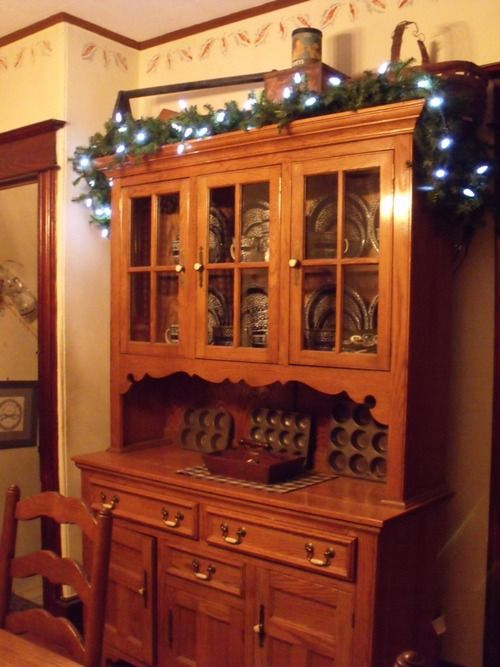 My Primified Colonial Dining Room Set This Is Hutch That I Started Collecting Old Tine Cupcake Molds Dinin
