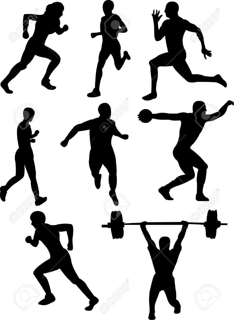 athlete silhouette vector - Google Search | ::Things ...