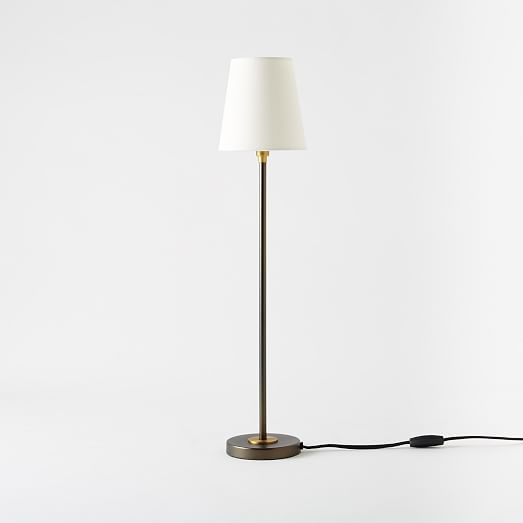Arc Mid Century Table Lamp Tall Antique Bronze West Elm