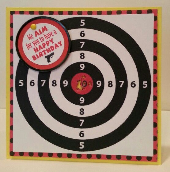 Birthday Card Target Shooting Cardmaking Pinterest Cards