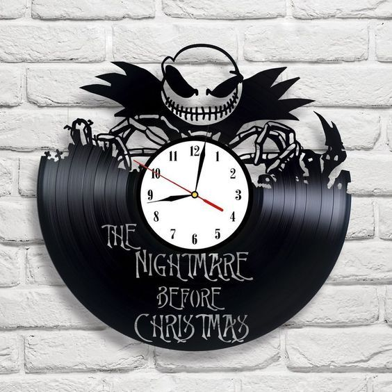 The Nightmare Before Christmas - 2 vinyl record clock Jack