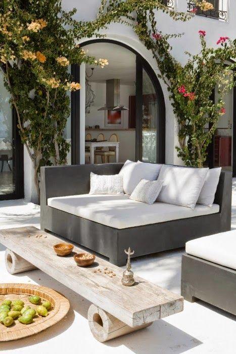Canapé d\'angle pour l\'extérieur en béton !!! | Terrasses et jardins ...